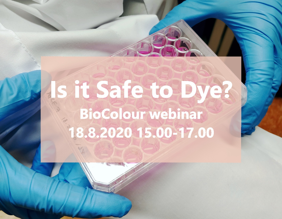 Cover for article 'Is it Safe to Dye? -webinar 18.8.2020'