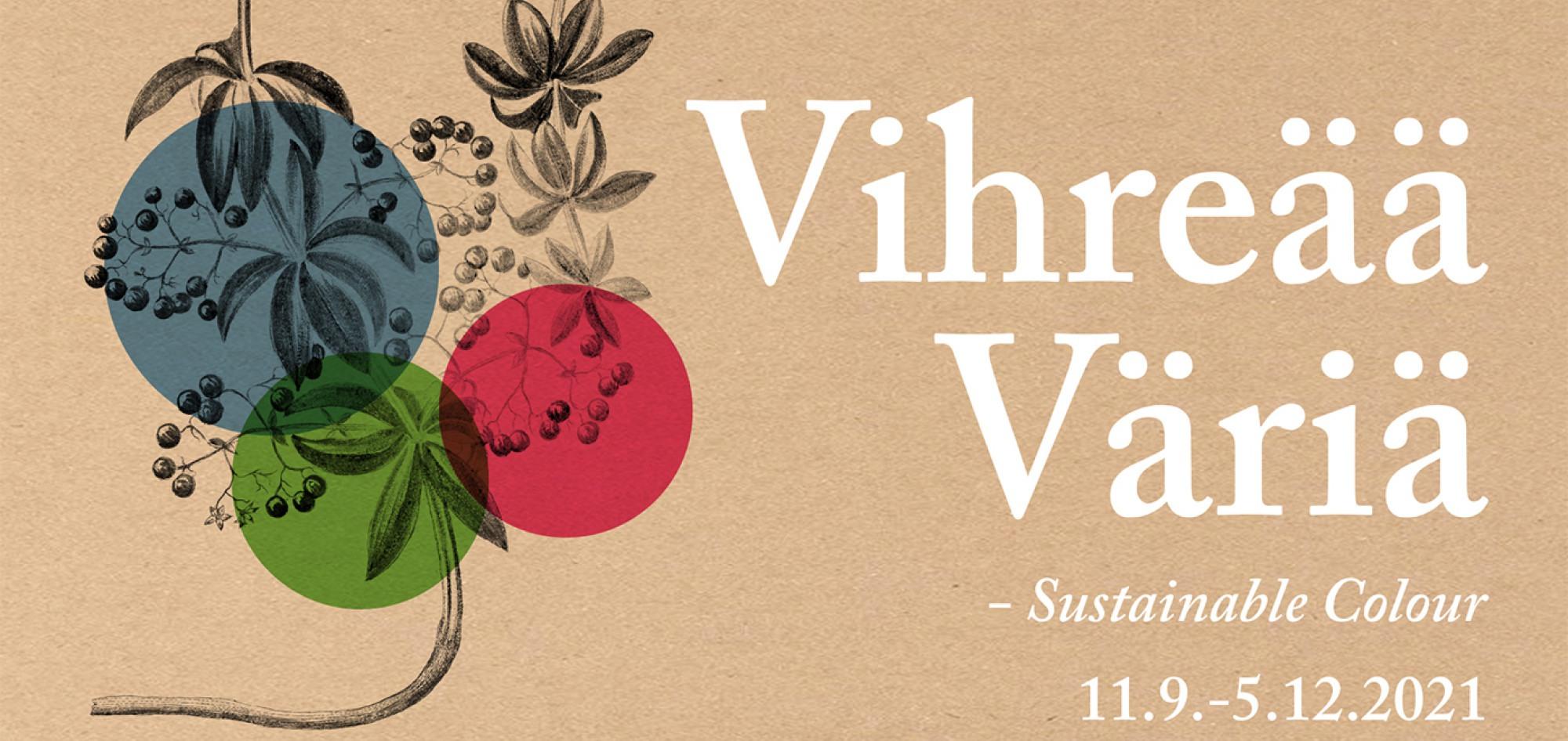 Cover for article 'Vihreää väriä -näyttely Suomen käsityön museossa 11.9.-5.12.2021'