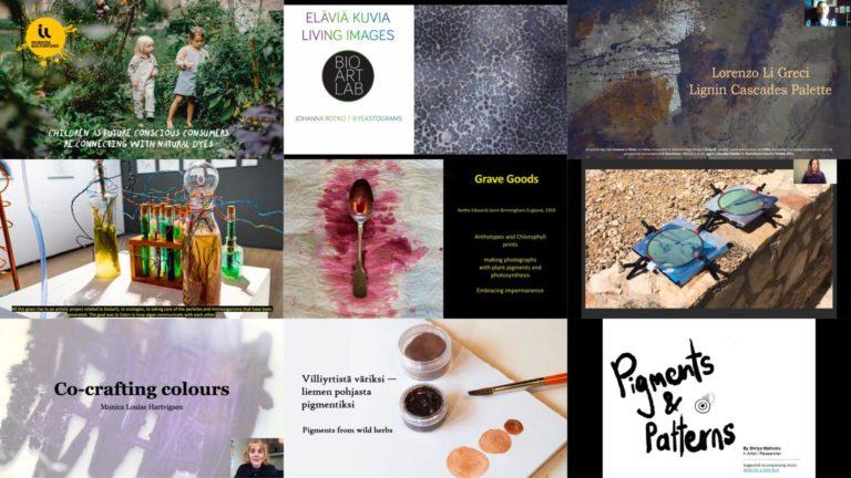 Cover for article 'Friends of BioColour – pecha kucha esitykset osana Biovärit – Tutkimuksia kestävästä väristä seminaaria ja näyttelyä'